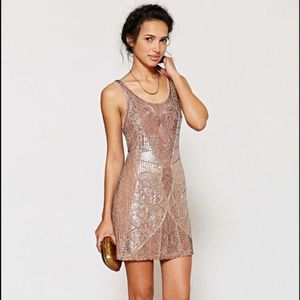 Urban Outfitters beaded embroidery flapper dress